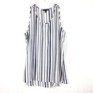 Living Doll Striped Sleeveless Tunic Size 2X